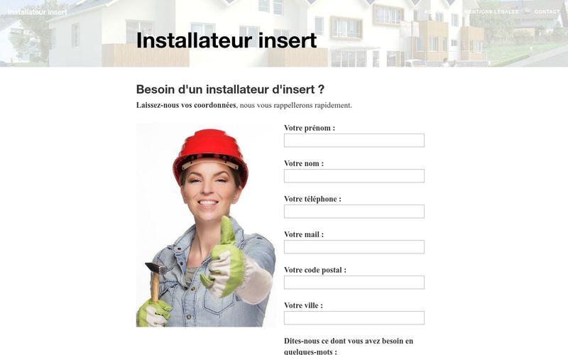 A qui faire appel pour installer un insert ?